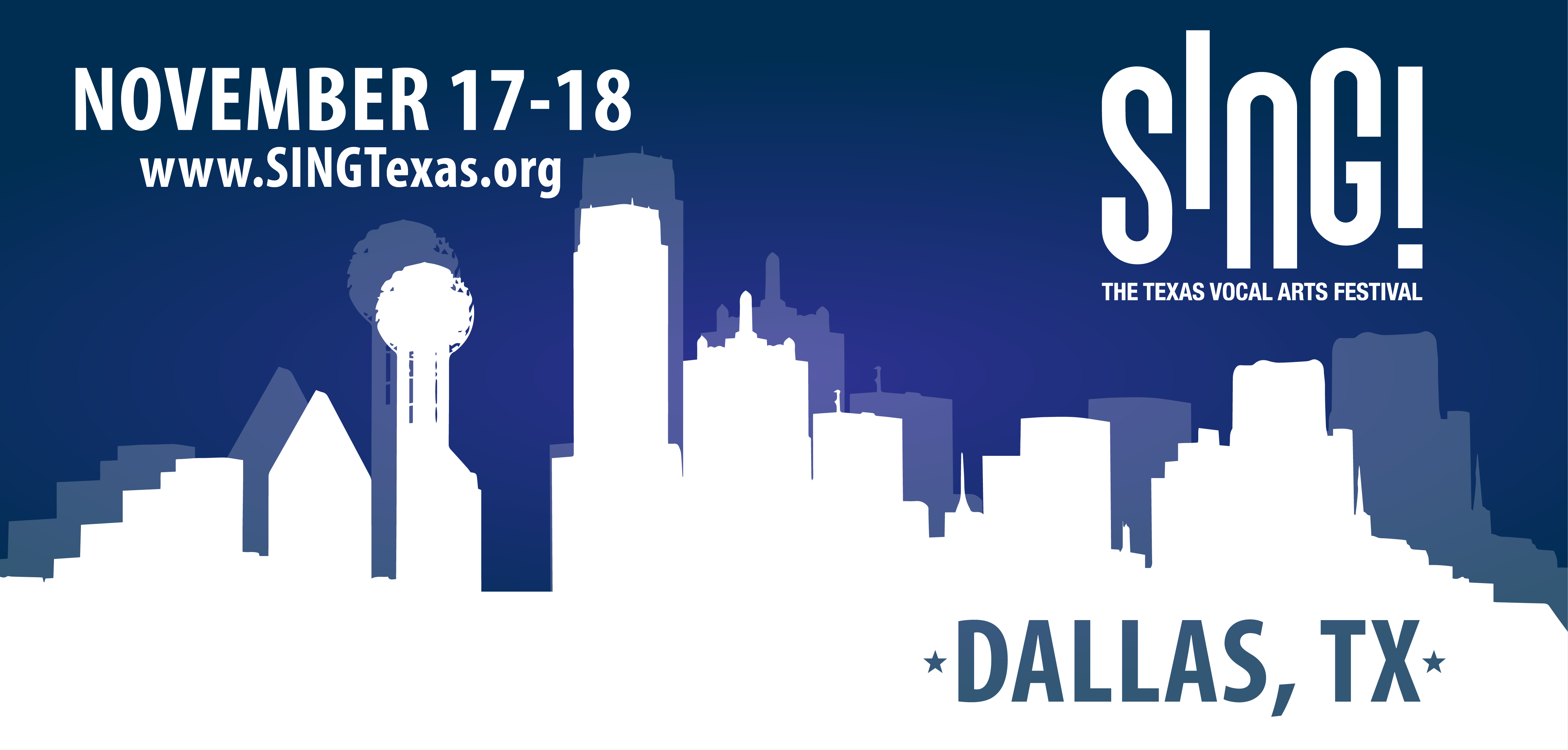 SING! The Texas Vocal Arts Festival, November 17–18, Dallas